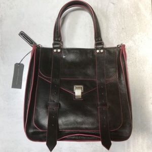 Proenza Schouler PS1 Tote in Black Crackle Leather